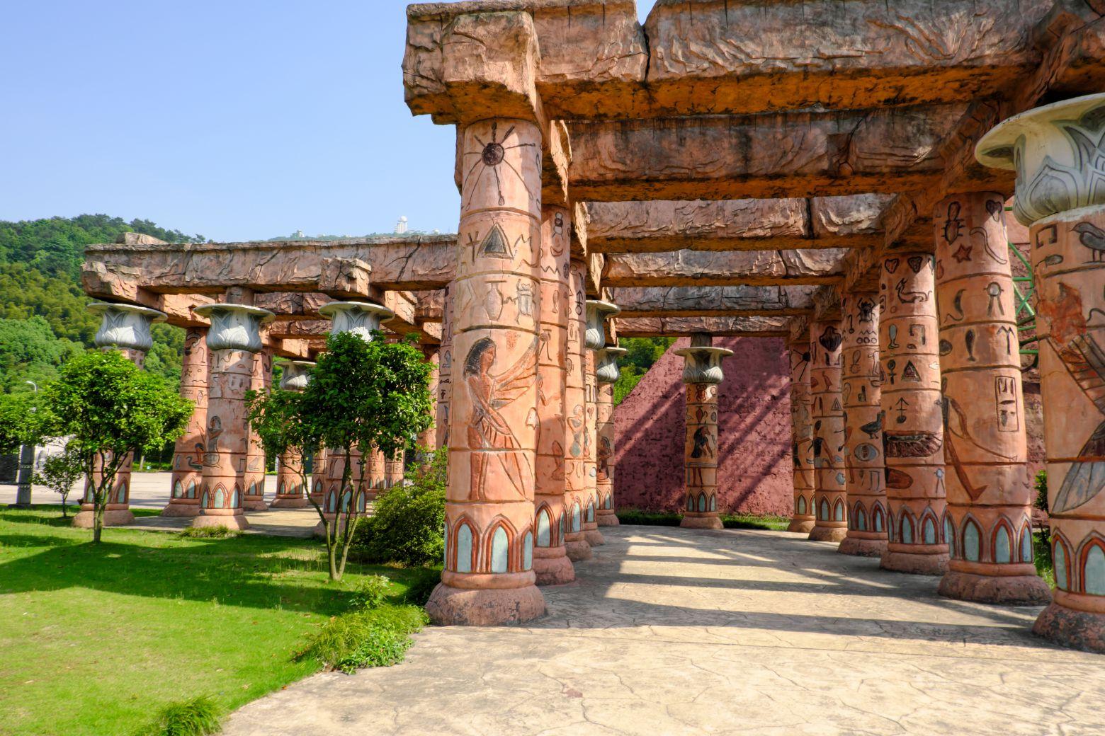 埃及文艺元素走廊背景 - 免费照片