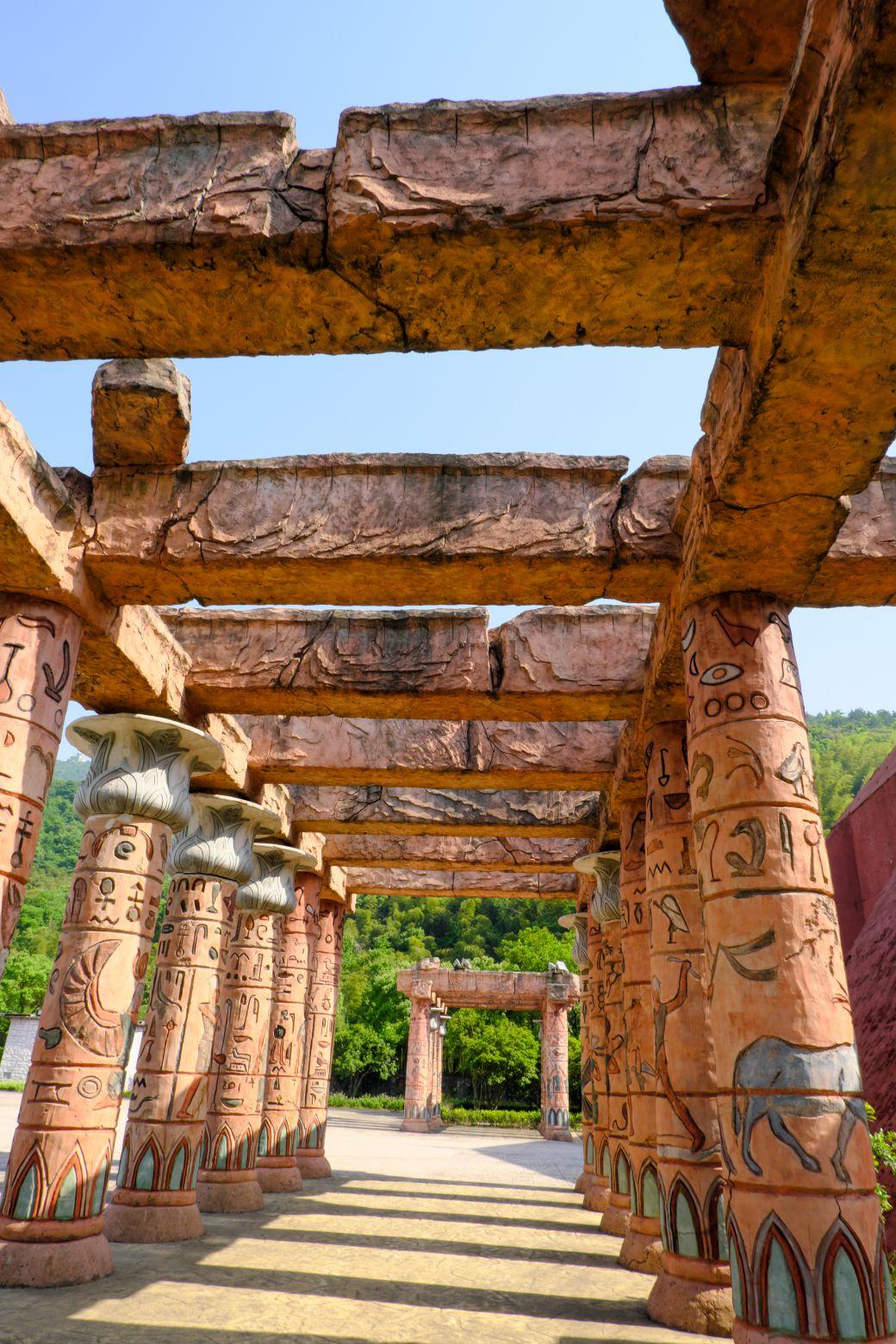 埃及文化柱子照片 - 免费商用照片下载