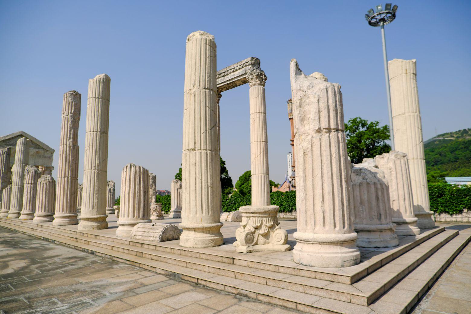 断壁残垣雅典卫城背景 - 免费正版照片下载