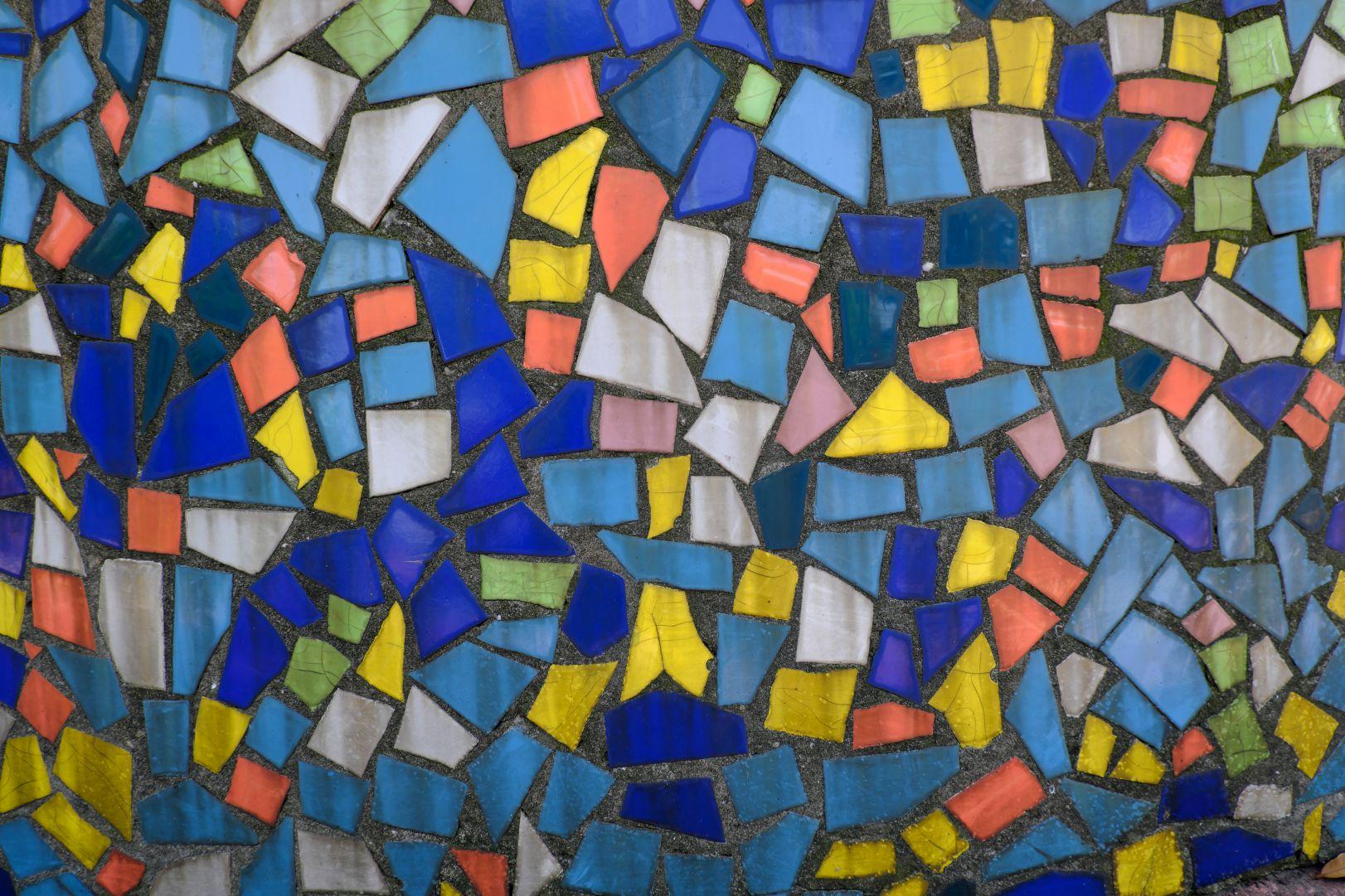七彩玻璃碎片拼合纹理高清图像 - 免费商用图片