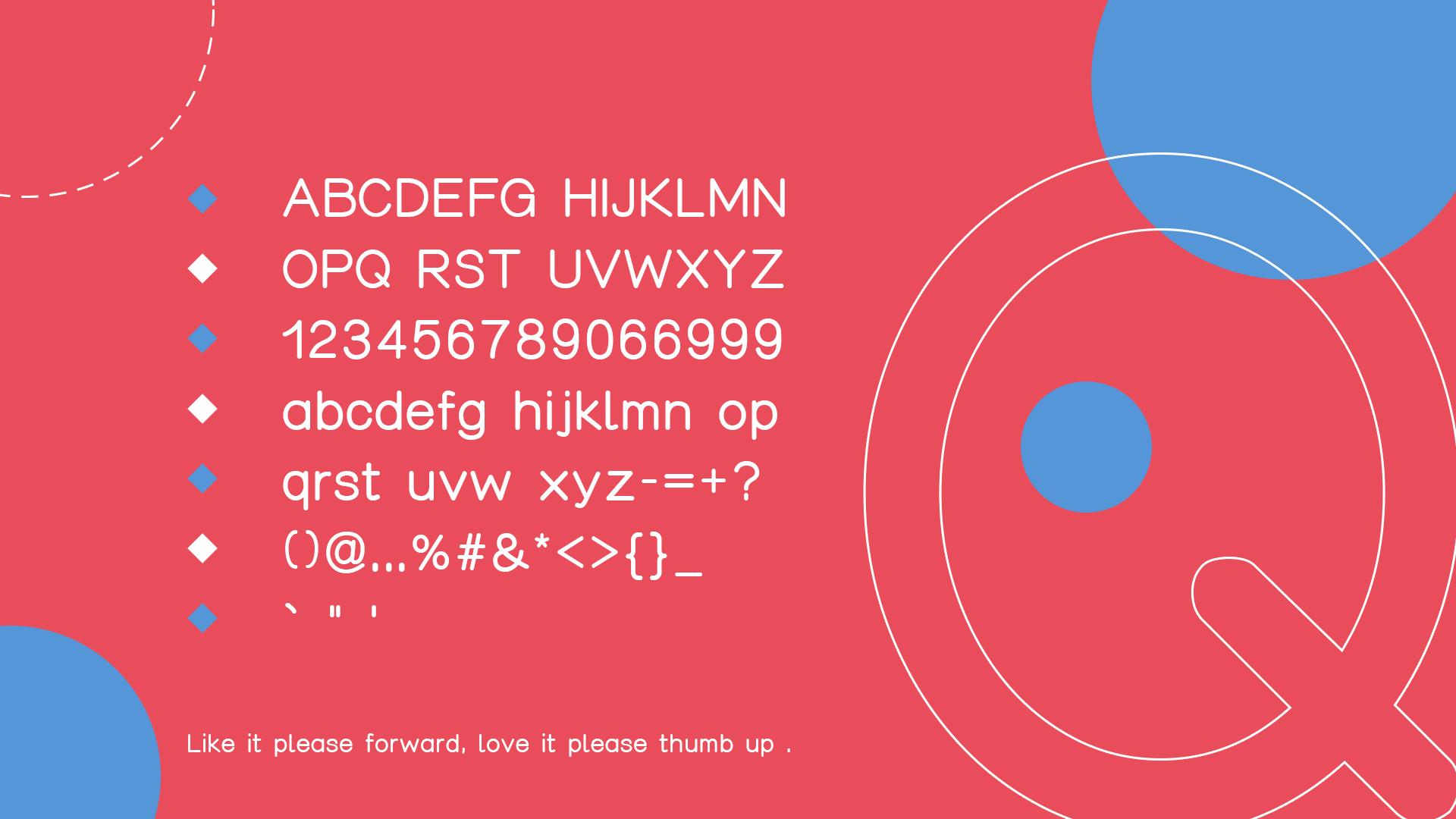 【阿瓜准圆体】永久免费商用!英文字体下载