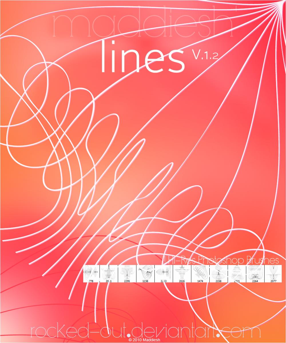 优美的对称曲线PS笔刷