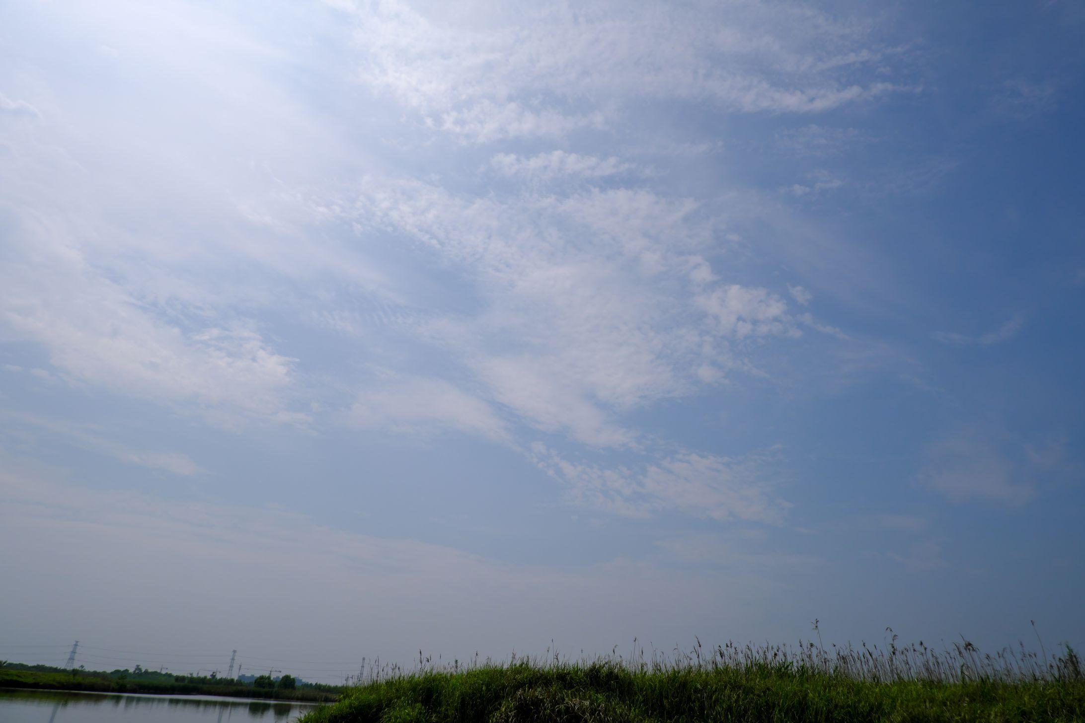 湿地上的蓝天照片背景下载