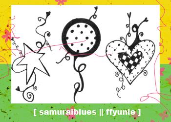 童趣涂鸦爱心、星星图形PS笔刷(JPg图片格式)