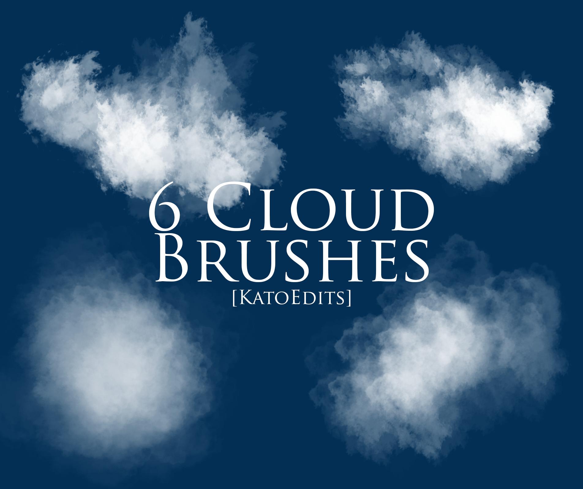 6种高清渲染云朵、雾气效果PS笔刷