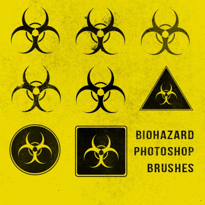 核辐射标志PS笔刷