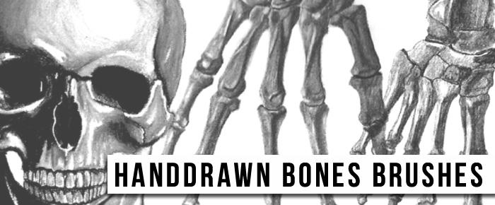 骷髅头、骨骸PS图形笔刷