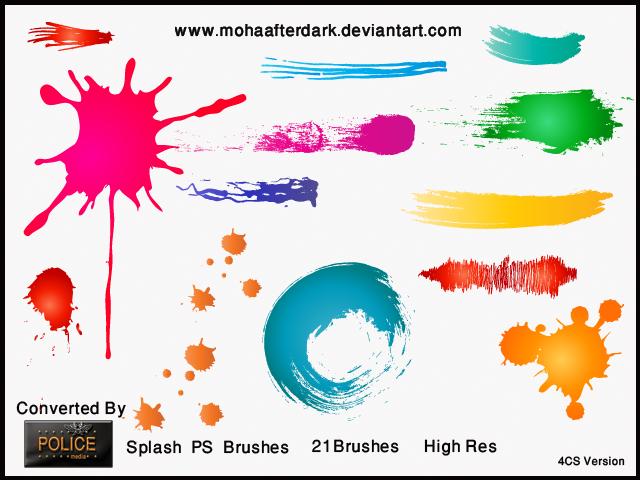 油漆、水墨涂痕PS笔刷