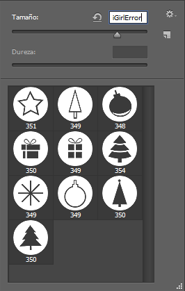 圣诞节礼品、圣诞树、彩球等装饰物PS笔刷