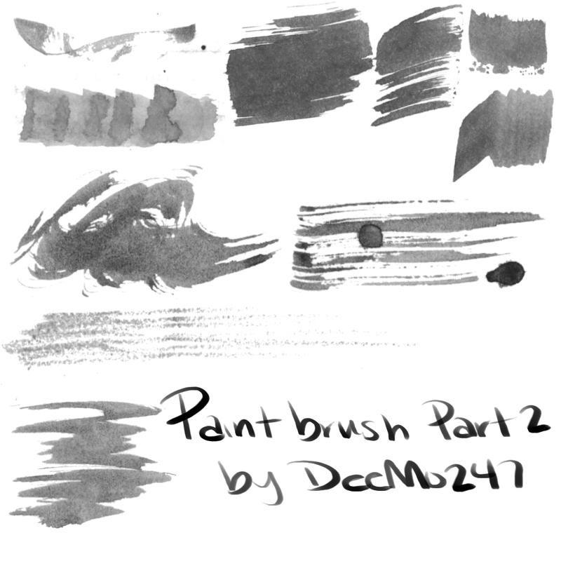 油画刷子、绘画画笔笔触PS笔刷