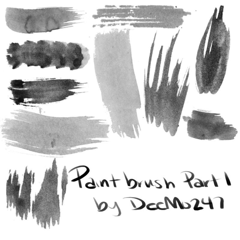 高级颜料画笔涂痕刷子PS笔刷