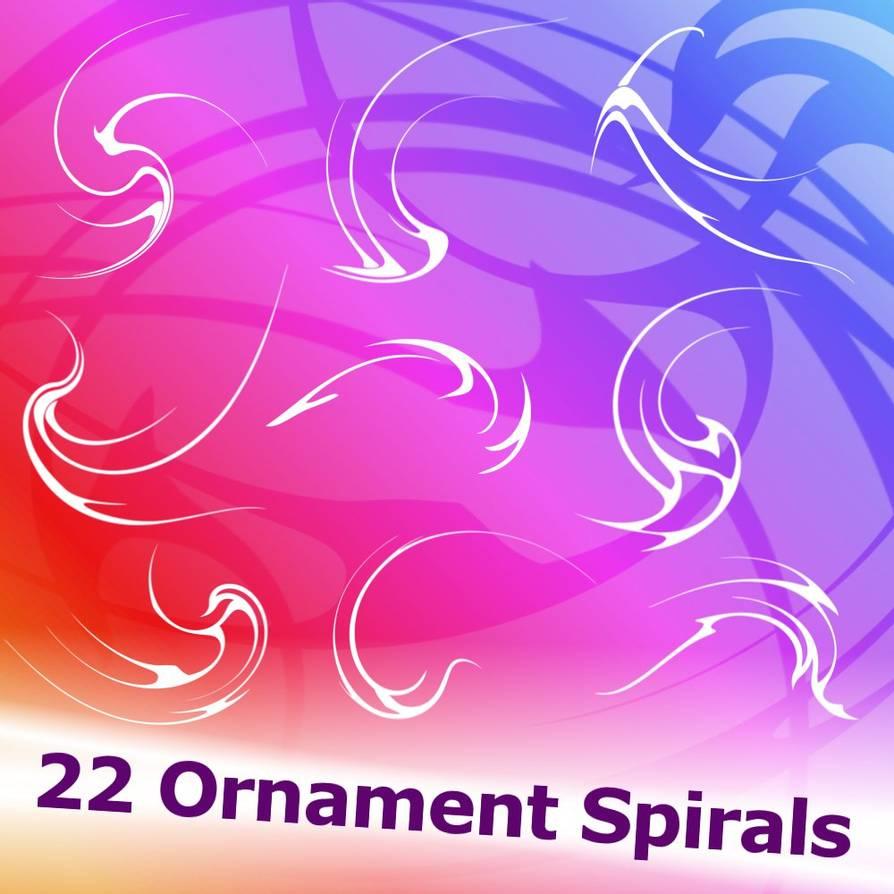 22种螺旋纹理PS笔刷