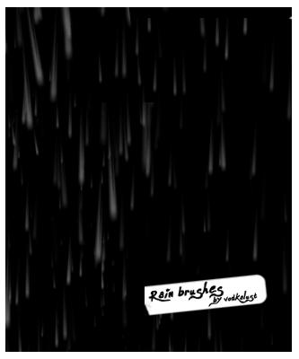 模拟雨滴、下雨背景纹理PS笔刷