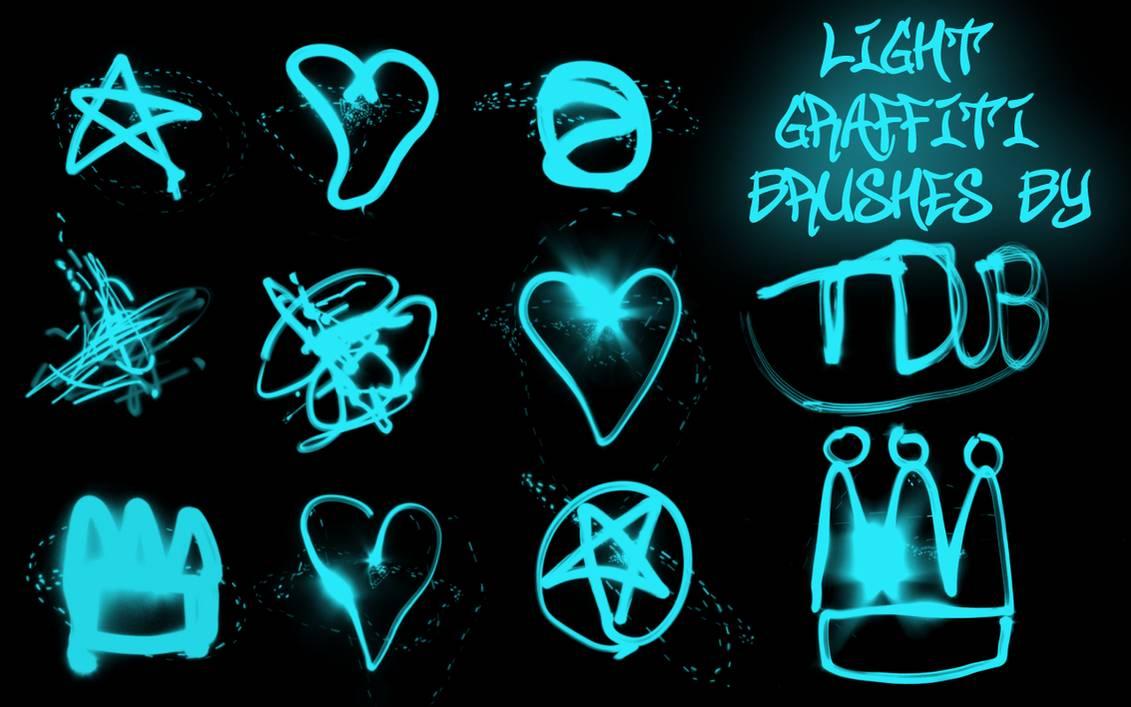 手绘涂鸦荧光五角星、爱心、皇冠等照片美化ps笔刷素材