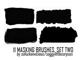 撕纸效果、画笔涂抹背景纹理PS笔刷
