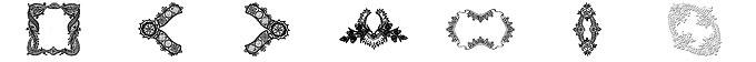 富丽堂皇花纹边框、装饰印花图案PS笔刷素材
