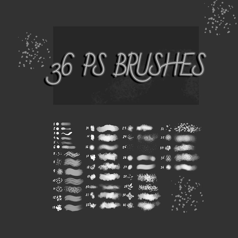 36种免费插画画笔PS素材