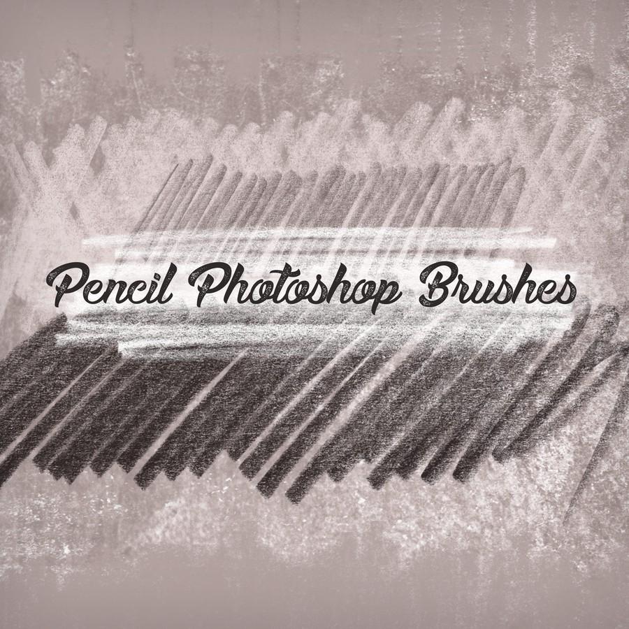 10种免费铅笔纹理PS笔触笔刷