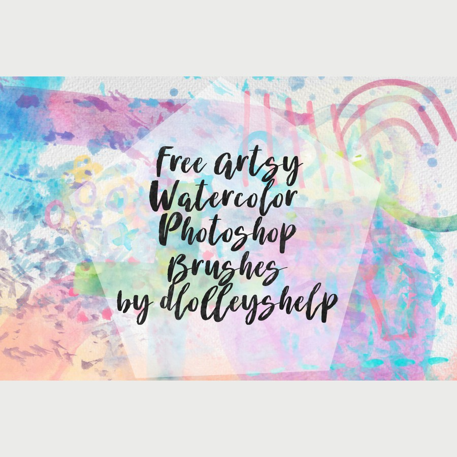 免费水彩Photoshop画笔素材