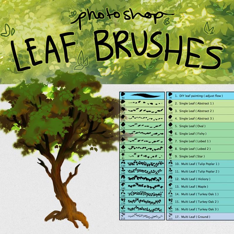 17个Photoshop树叶、叶子画笔素材下载