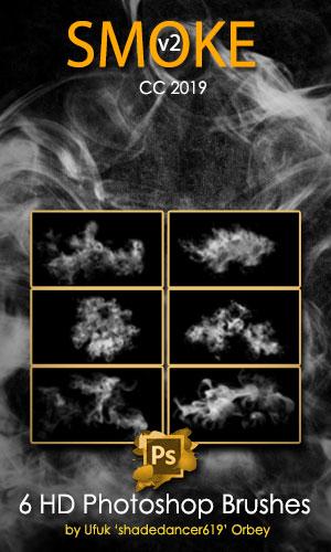 6种昏暗的烟雾效果PS笔刷