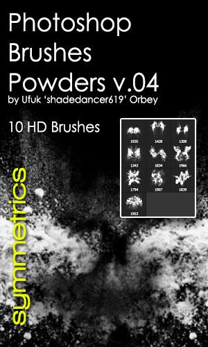 10种爆炸式粉尘效果PS笔刷