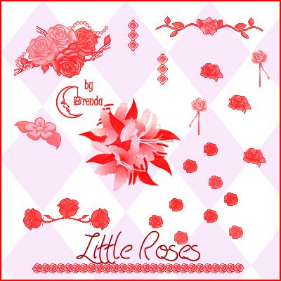 玫瑰花花朵、鲜花花朵PS笔刷