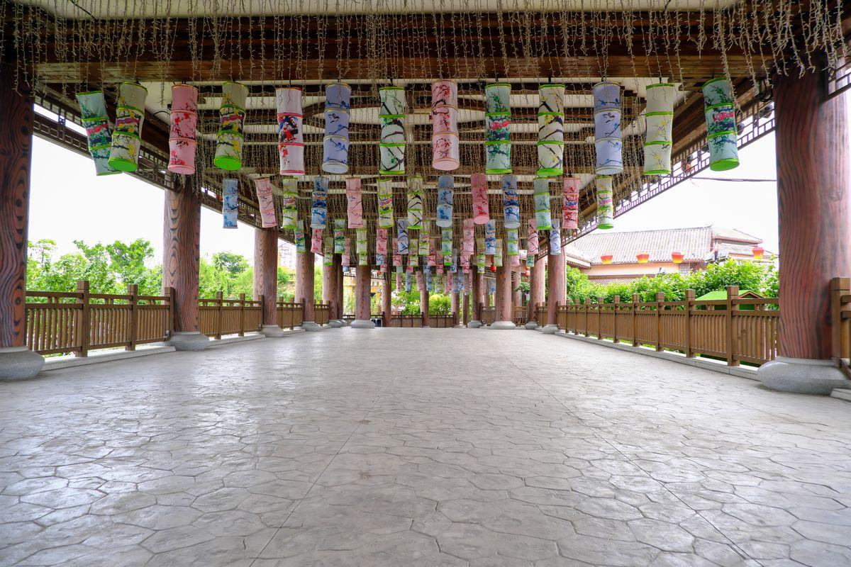 中式走廊背景图片下载 - 免费商用图库