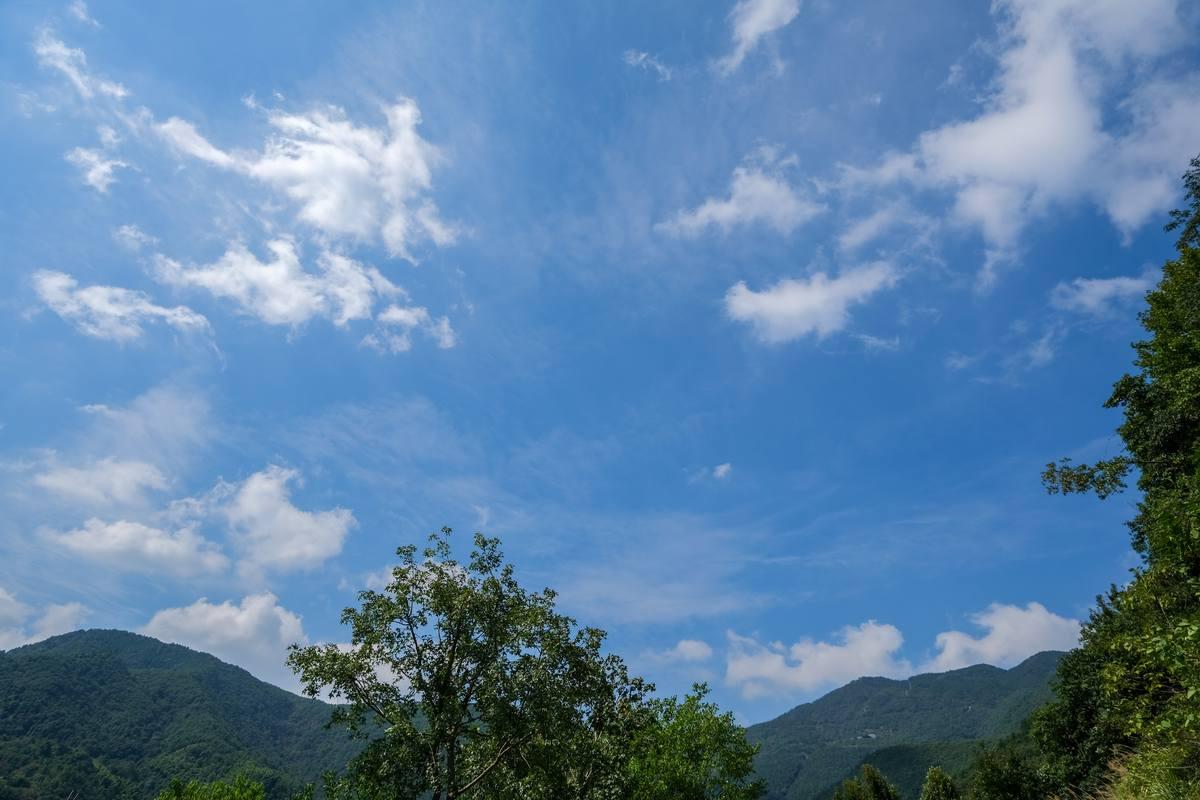 大山蓝天背景高清图片免费下载