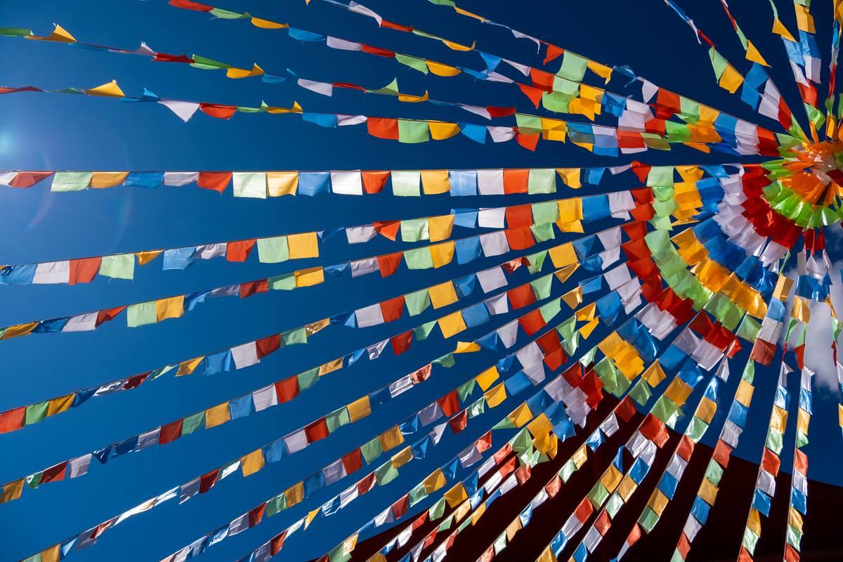 炫丽彩旗背景照片 - 免费高清4K商用