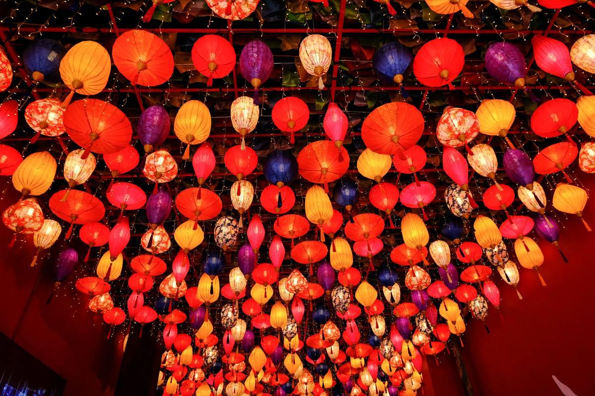 节日灯笼照片背景