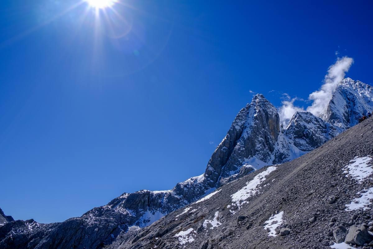 雪山山顶风景高清照片下载