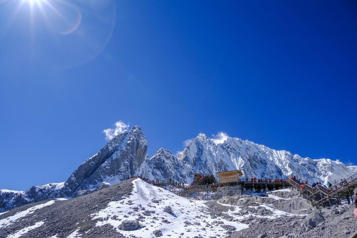 雪山峰顶风景照片 1080P图片下载