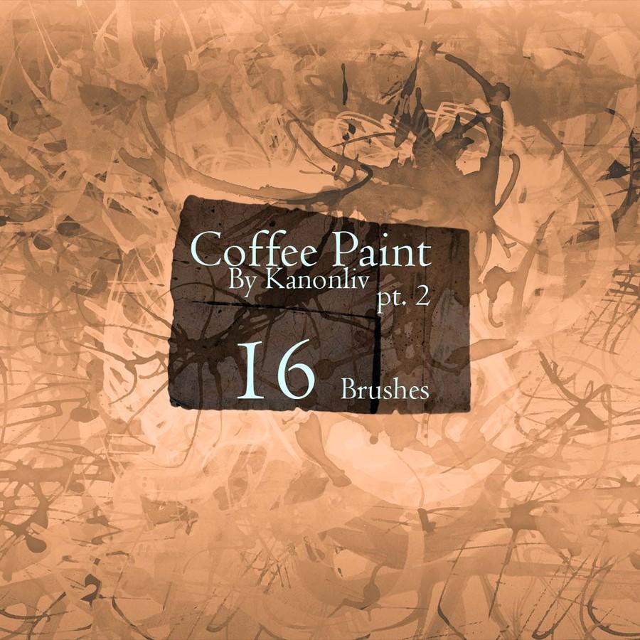 咖啡污渍、咖啡粉涂鸦纹理PS笔刷素材