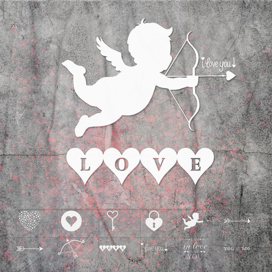 爱情天使丘比特PS笔刷素材