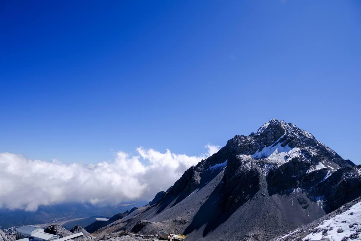 雪山峰顶美景背景高清图片免费下载
