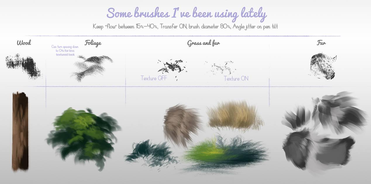 树皮、皮毛、毛发、地面纹理等PS笔刷素材