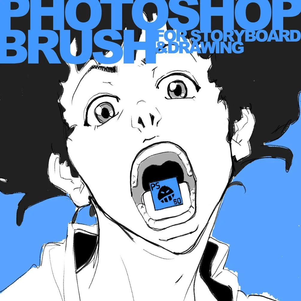 Photoshop 绘画涂鸦艺术创作笔刷素材(同时含.abr和.sut笔刷)