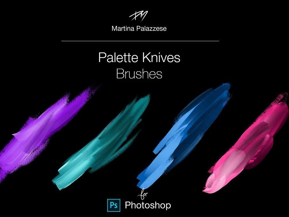 油画数字调色板纹理画笔PS笔刷