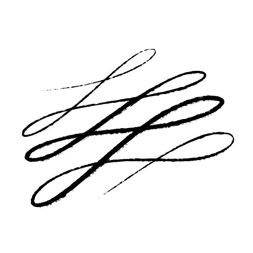 墨水笔触预设PS笔刷素材下载