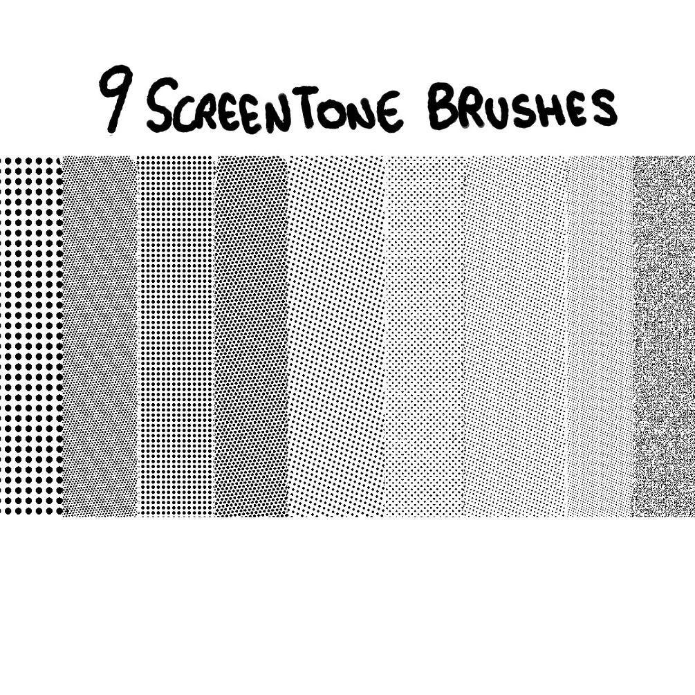 9种复点纹理效果PS背景圆点笔刷