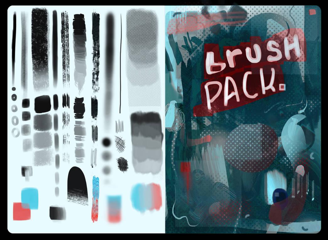 油漆、油墨、插图插画专用PS笔刷
