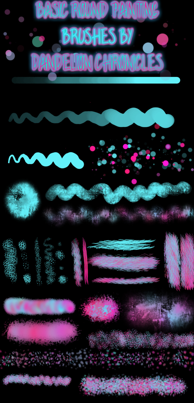 彩色创意星星、光影、柔和等效果PS笔刷