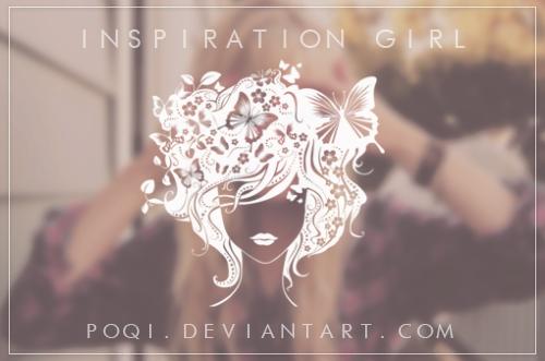 灵感女孩、时尚自然女孩头像PS笔刷