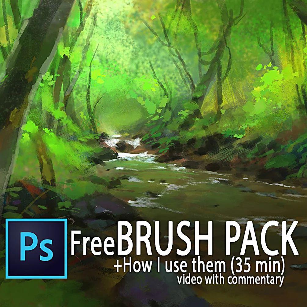 免费风景类插图、插画创作笔刷PS笔刷(含视频)