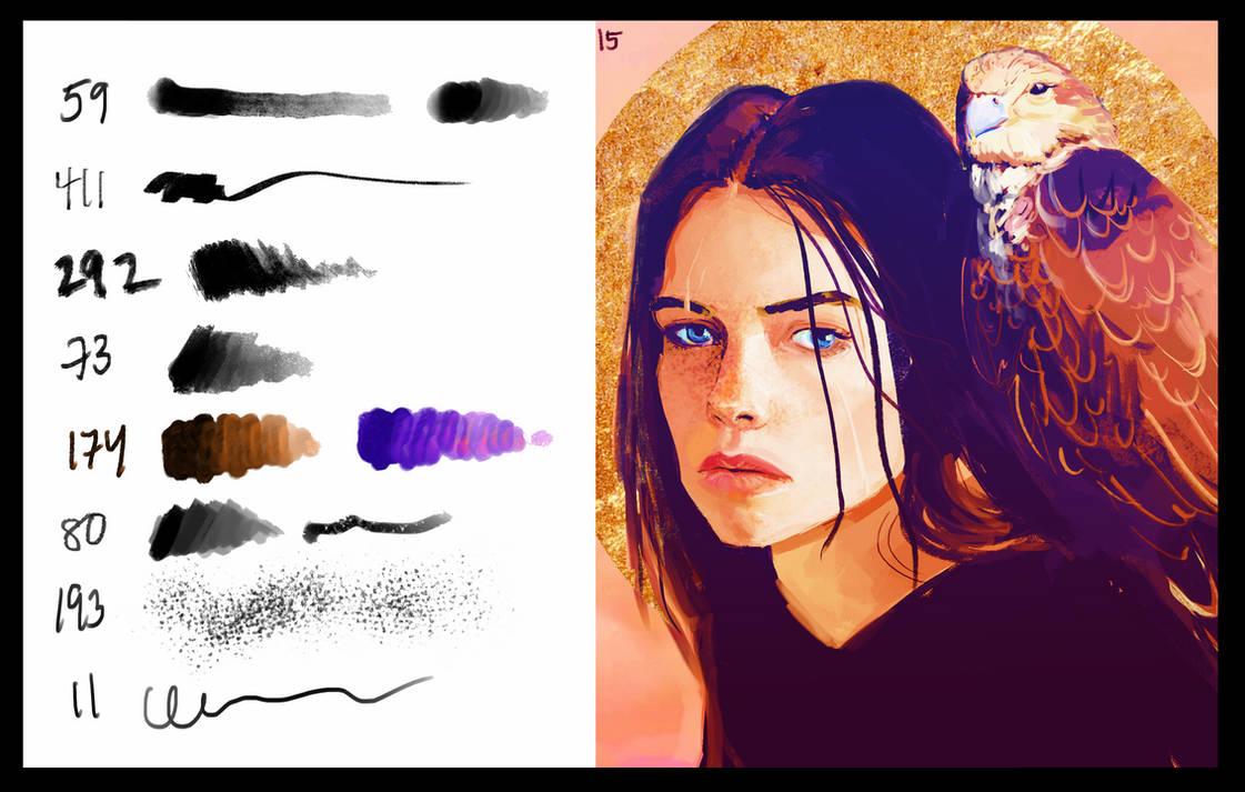 平滑、阴影、睫毛、雀斑等纹理材质PS笔刷素材