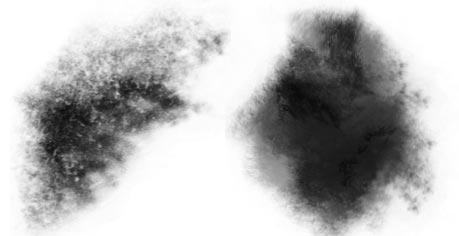 免费星云、棉花纹理效果PS笔刷素材