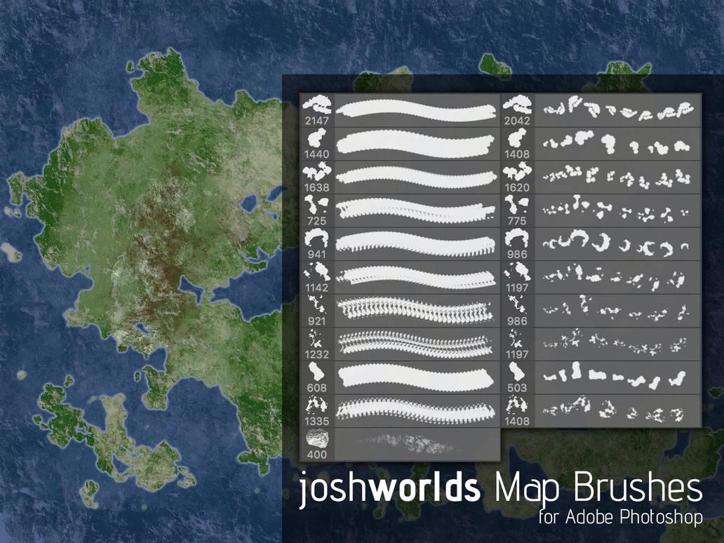 地图板块纹理素材PS地图笔刷