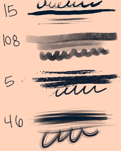 素描、铅笔等笔触PS素材笔刷