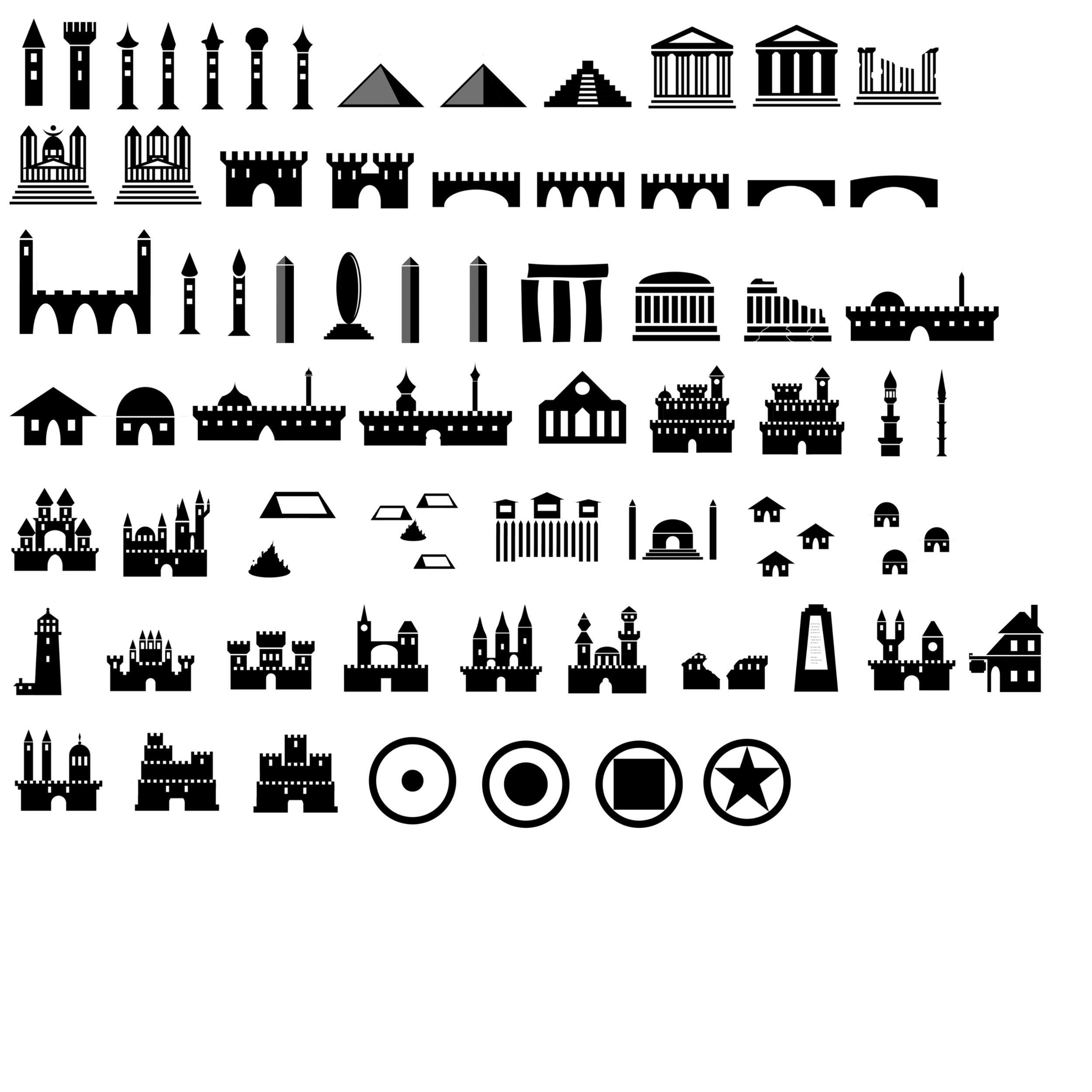 欧式建筑物缩影适量风格图像PS笔刷